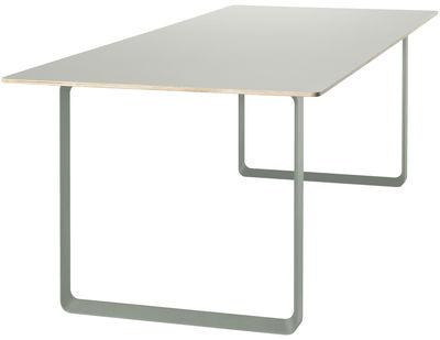 Furniture - Office Furniture - 70-70 Rectangular table by Muuto - Light green - Aluminium, Melamine, Plywood