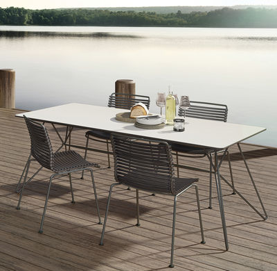Rectangular table Sketch by Houe - White/Grey | Made In Design UK