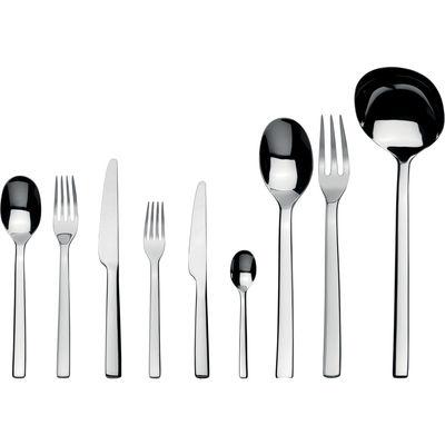 Image of Servizio Ovale - per 12 persone di Alessi - Acciaio inossidabile brillante - Metallo