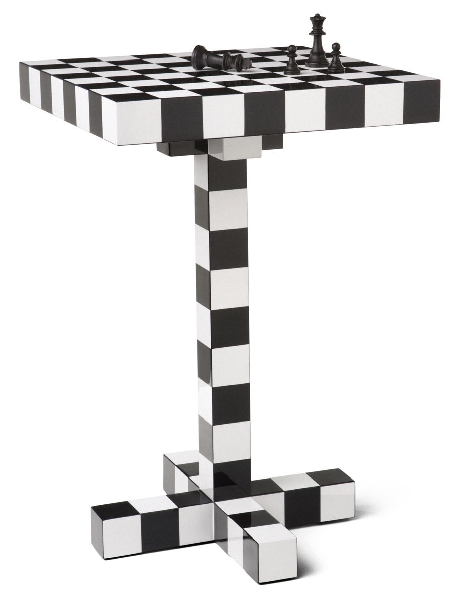 Furniture - Coffee Tables - Chess Table Small table by Moooi - White & black - Lacquered wood