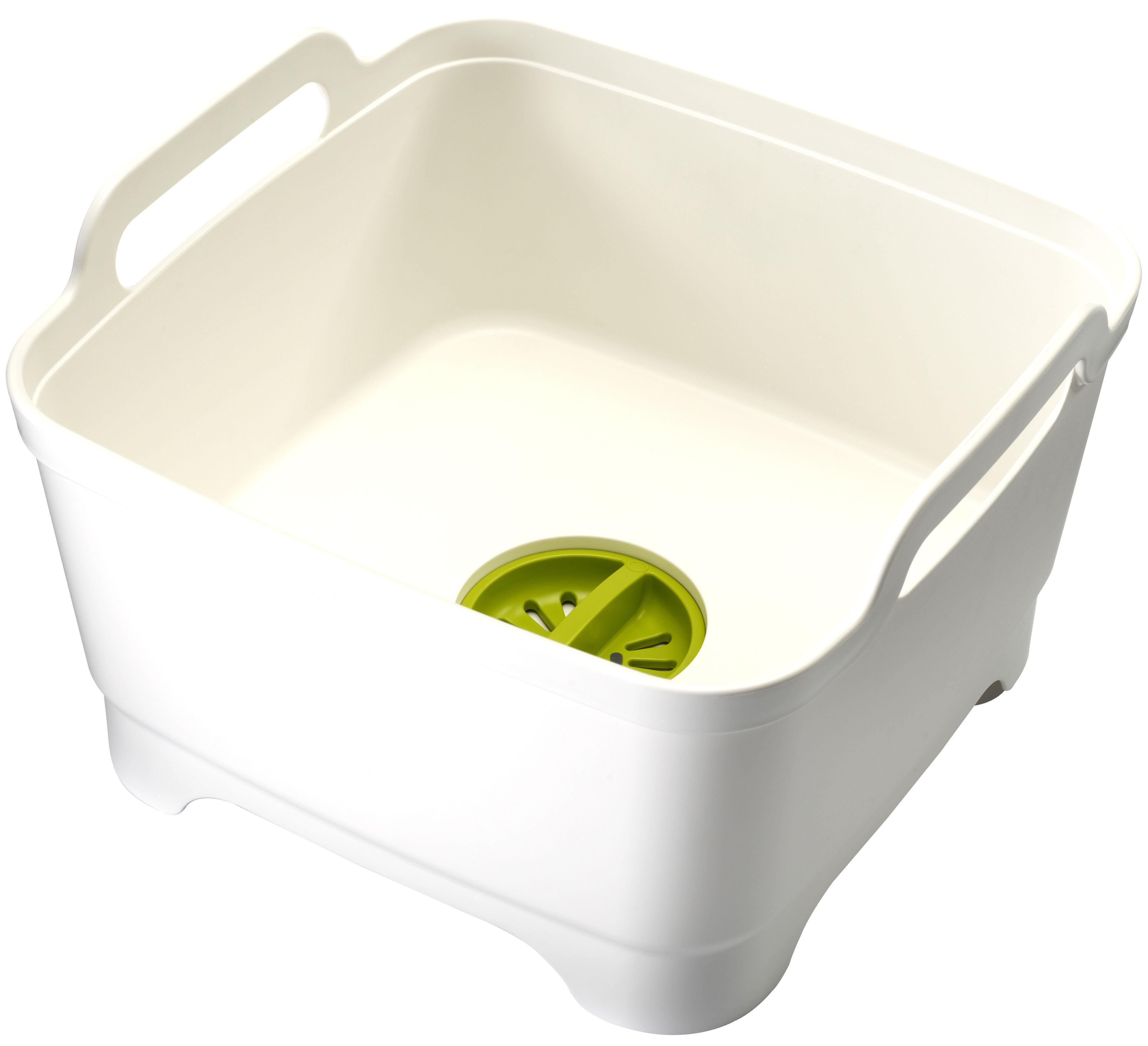 Küche - Spülen und putzen - Wash&Drain Spülbecken / mit Wasserablauf - Joseph Joseph - Weiß / grün - Polypropylen