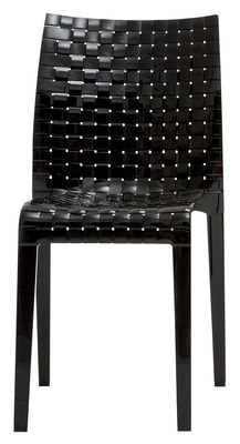 Möbel - Stühle  - Ami Ami Stapelbarer Stuhl - Kartell - Schwarz glänzend - Polykarbonat