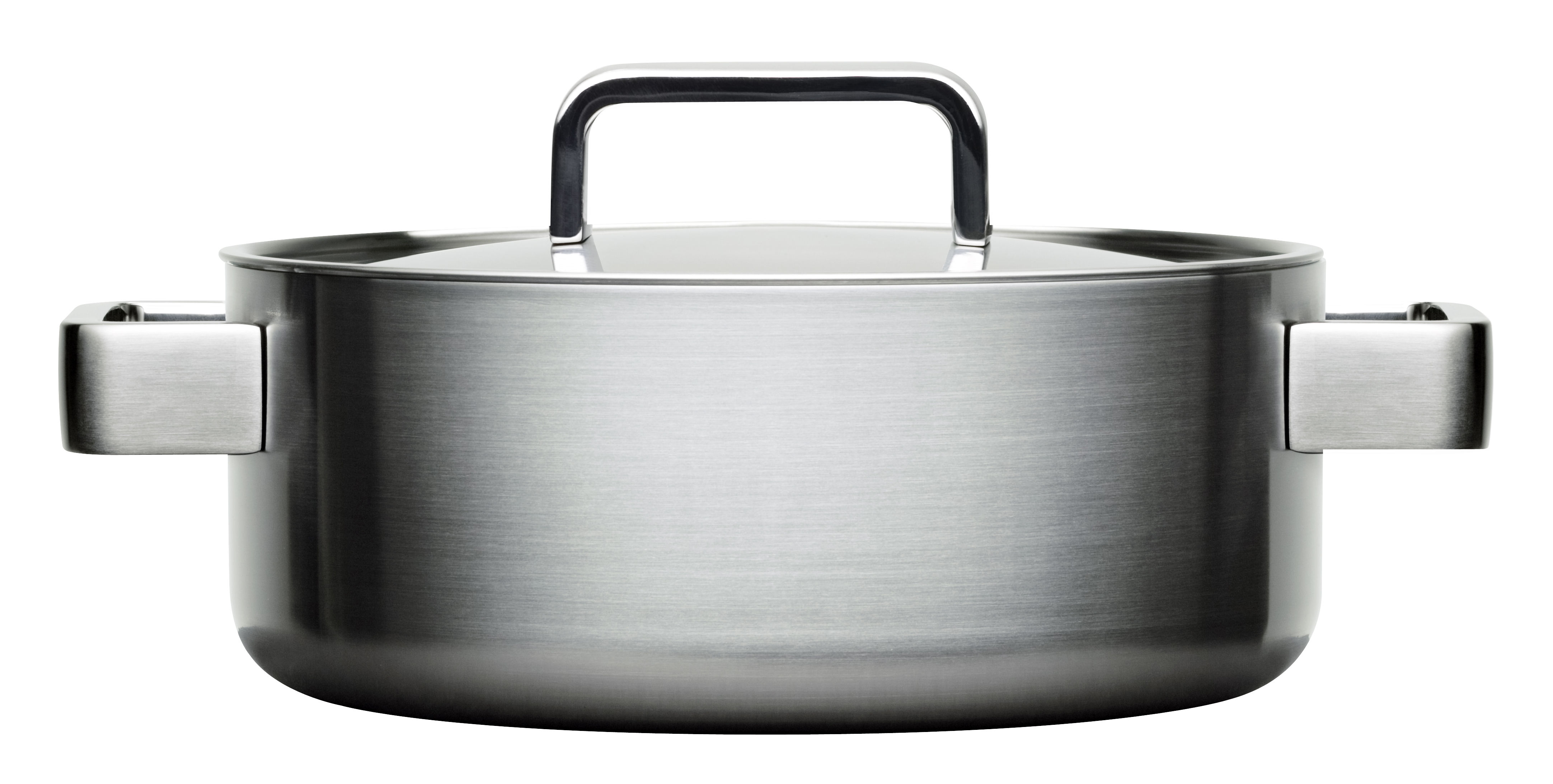 Kitchenware - Pots & Pans - Tools Stew pot - 3L / With lid by Iittala - Steel - Stainless steel