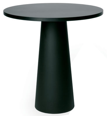 Outdoor - Garden Tables - / Pied pour table Container Table accessory - Ø 30 x H 70 cm - For top Ø 70 cm by Moooi - Black foot Ø 30 cm - Polypropylene
