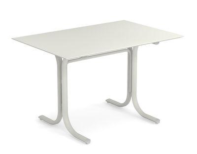 Table rectangulaire System / 80 x 120 cm - Emu blanc en métal