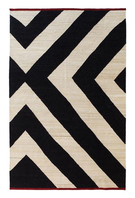 Tapis Mélange Zoom / 170 x 240 cm - Nanimarquina blanc,rouge,noir en tissu