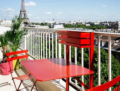 Tavolo Pieghevole Balcon Bistro Di Fermob Rosso Made