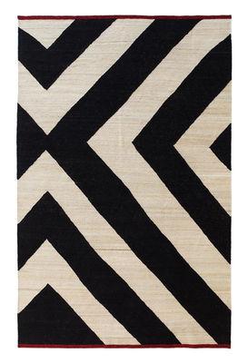 Mélange Zoom Teppich / 170 x 240 cm - Nanimarquina - Weiß,Rot,Schwarz