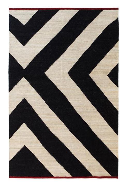 Dekoration - Teppiche - Mélange Zoom Teppich / 170 x 240 cm - Nanimarquina - 170 x 240 cm / schräg gestreift - Wolle, afghanisch