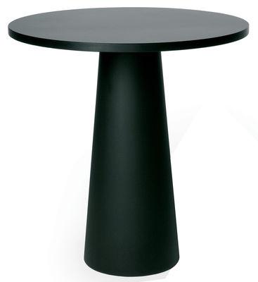 Outdoor - Tische - Container Tischbein / H 70 cm - für Tischplatte mit Ø 70 cm - Moooi - Fuß schwarz / Ø 30 cm x H 70 cm - Polypropylen