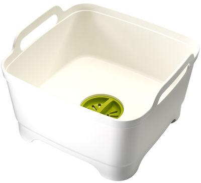 Cucina - Pulizia - Vaschetta per stoviglie Wash&Drain - / Con sistema di scolo di Joseph Joseph - Bianco / Verde - Polipropilene
