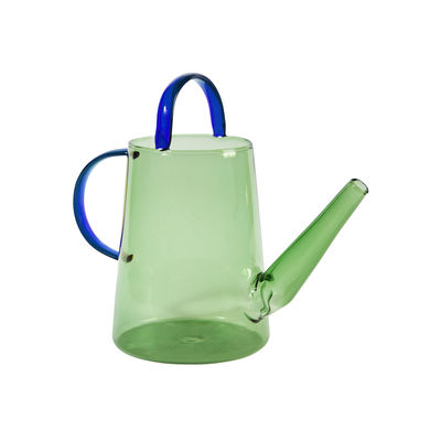 Decoration - Vases - Loop Watering can - / Watering can - 1 L by & klevering - Green & blue - Glass