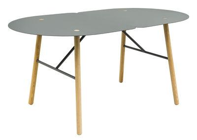 Table ovale Amaryllis / 160 x 90 cm - Bibelo gris,frêne naturel en métal