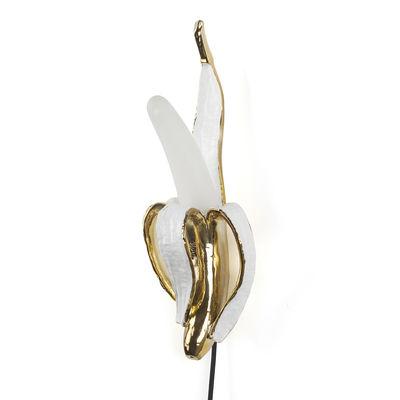 Illuminazione - Lampade da parete - Applique Banana Mr Roy - / Resina & vetro di Seletti - Mr Roy / Oro & bianco - Resina, Vetro