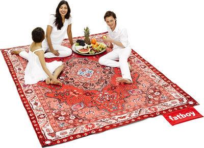 Dekoration - Teppiche - Picnic Lounge Außenteppich / 280 x 210 cm - Fatboy - Rottöne - Polyester-Gewebe, Wasserabweisender Schaumstoff