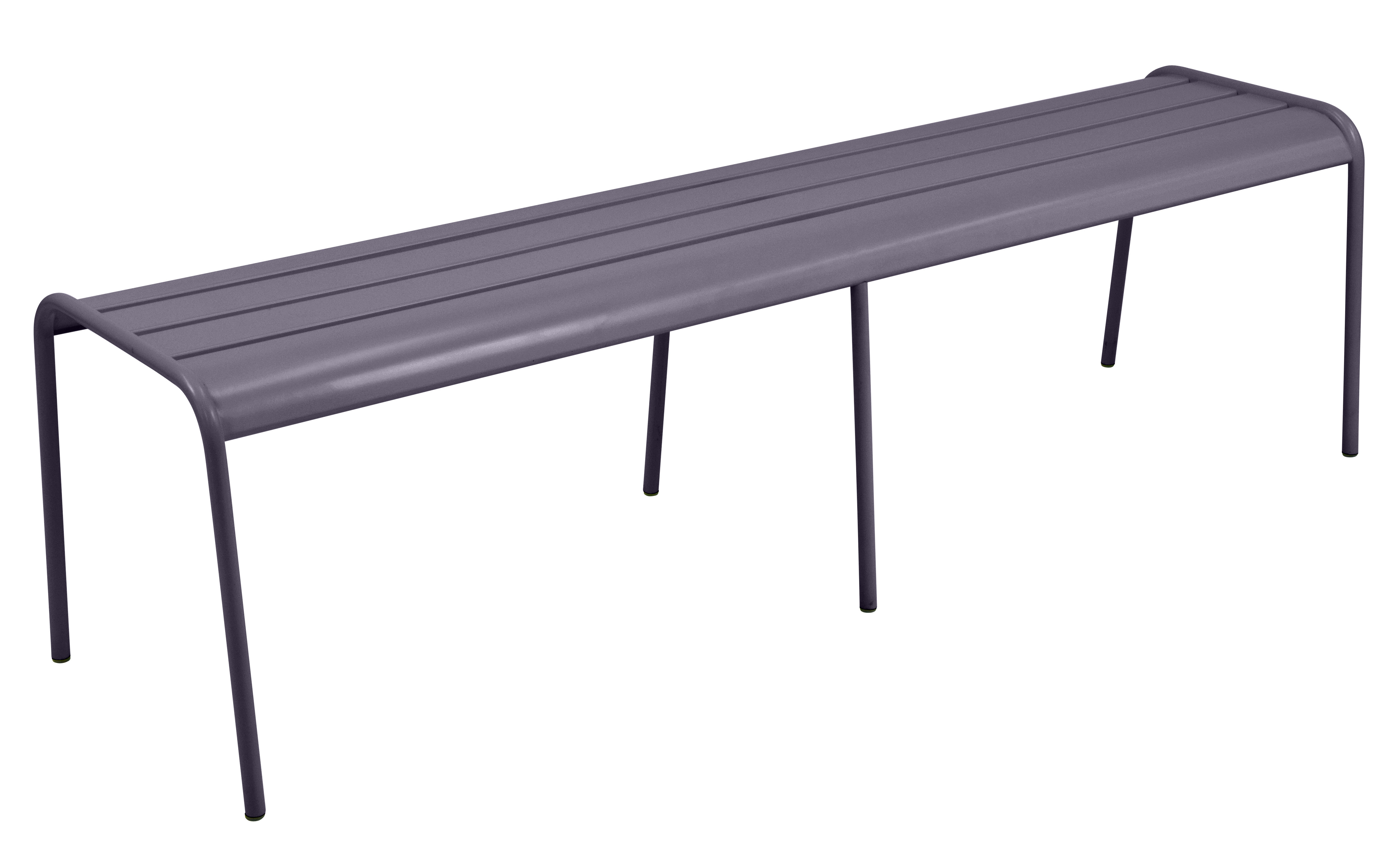 Möbel - Bänke - Monceau XL Bank / L 160 cm - 3- bis 4-Sitzer - Fermob - Pflaume - bemalter Stahl