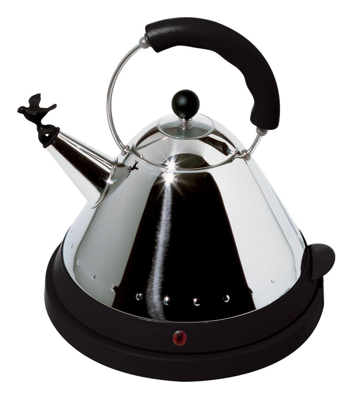 Cuisine - Electroménager - Bouilloire électrique Oisillon - Alessi - Noir - Acier inoxydable, Polyamide