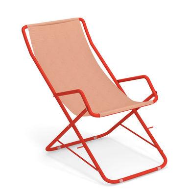Chaise longue Bahama / Pliable - Emu orange en tissu