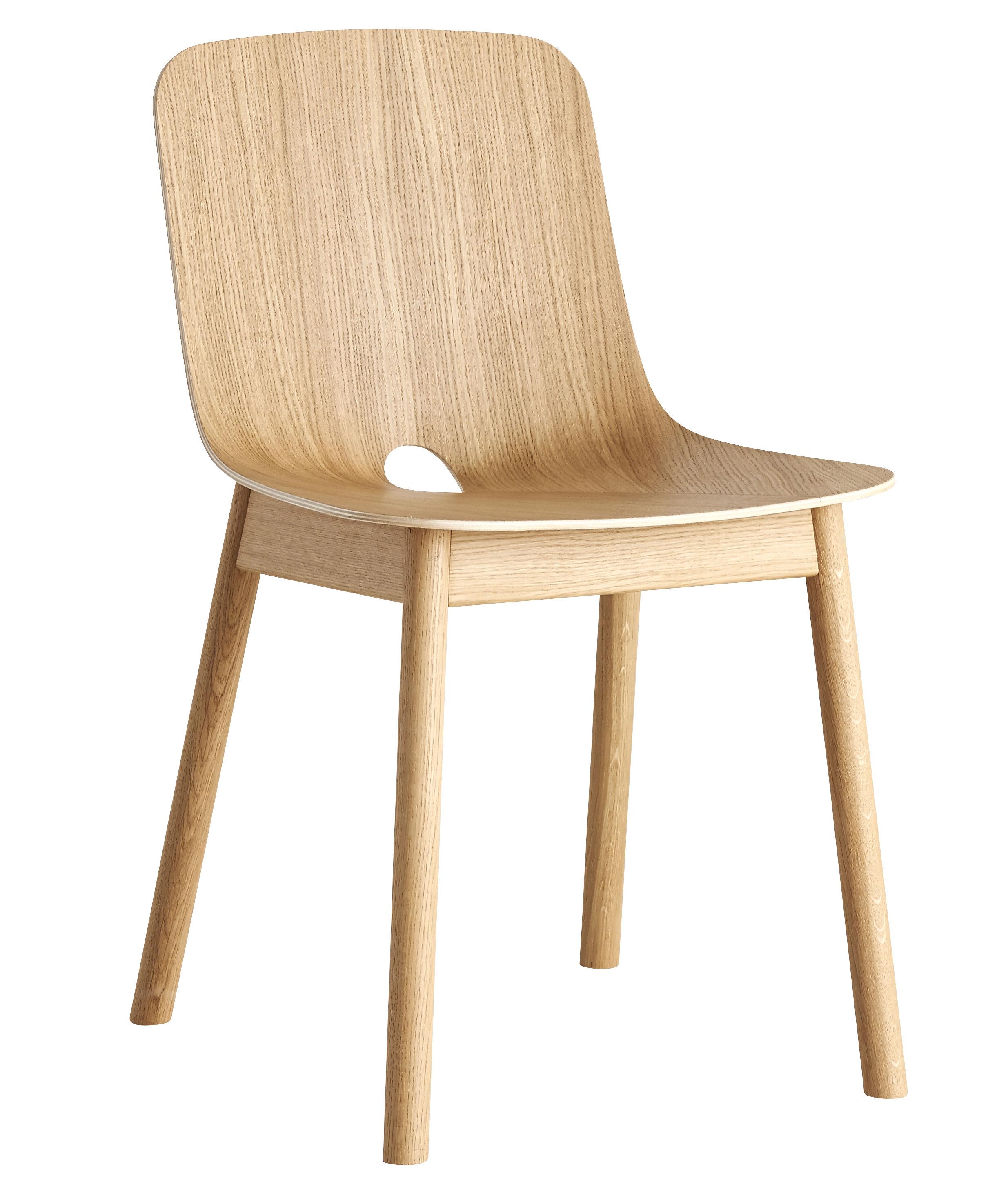 Mobilier - Chaises, fauteuils de salle à manger - Chaise Mono / Chêne - Woud - Chêne - Chêne massif, Contreplaqué de chêne