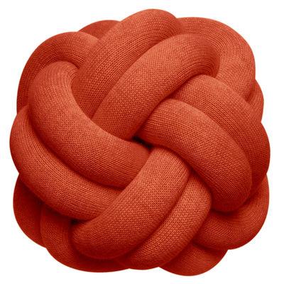 Coussin Knot / Fait main - 30 x 30 cm - Design House Stockholm rouge en tissu