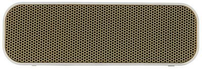 Dossiers - San Valentino - Diffusore bluetooth aGROOVE - / Senza fili di Kreafunk - Bianco & Oro - Materiale plastico