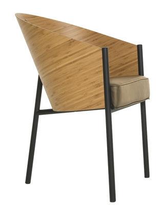 Chaise Costes / Coque bois - Driade noir,bambou,beige en bois