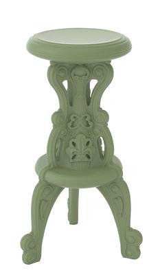 Furniture - Bar Stools - Mister of Love High stool - Indoor / outdoor - H 75 cm by Design of Love by Slide - Soft argil - Polythene