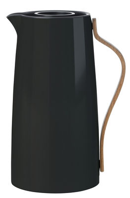 Insulated Jug Emma By Stelton Black Natural Wood Made