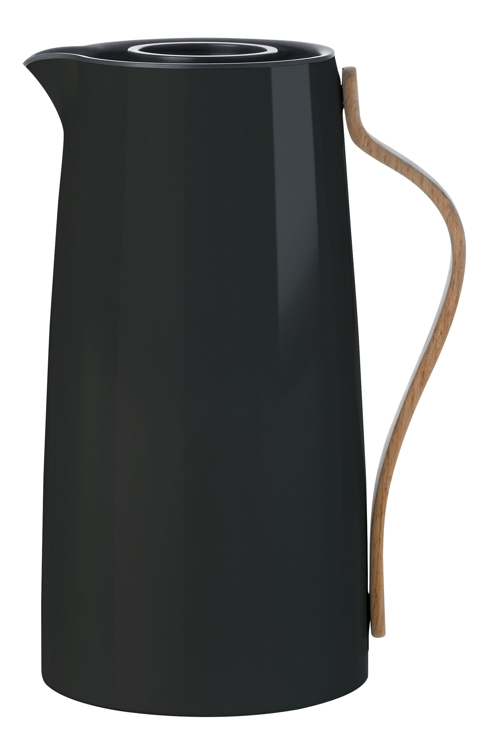Tableware - Tea & Coffee Accessories - Emma Insulated jug - 1,2 L by Stelton - Black & wood - Beechwood, Lacquered stainless steel