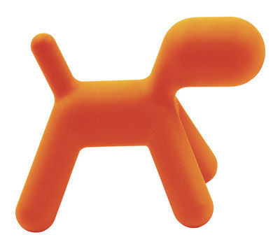 Möbel - Möbel für Kinder - Puppy Large Kinderstuhl L 69 cm - Magis Collection Me Too - Orange, matt - Polyäthylen
