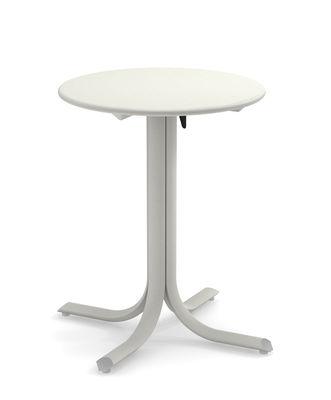 Outdoor - Tische - System Klapptisch / Ø 60 cm - Emu - Weiß - Acier peint galvanisé