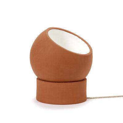 Lampe de table Terra Floor / Ø 31 x H 36 cm - Terracotta / Spot orientable - Serax rouge/orange en céramique