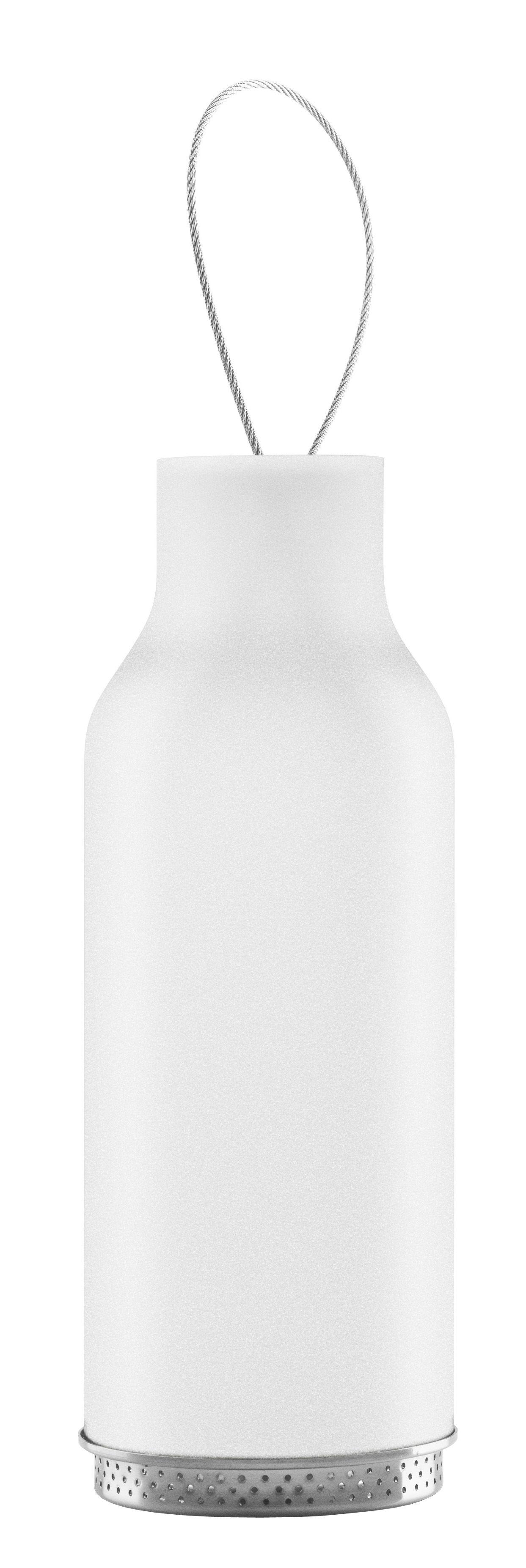 Outdoor - Decorazioni e accessori - Lanterna - H 25 cm / Portacandela di Eva Solo - Brina - Acciaio inossidabile, Vetro soffiato a bocca