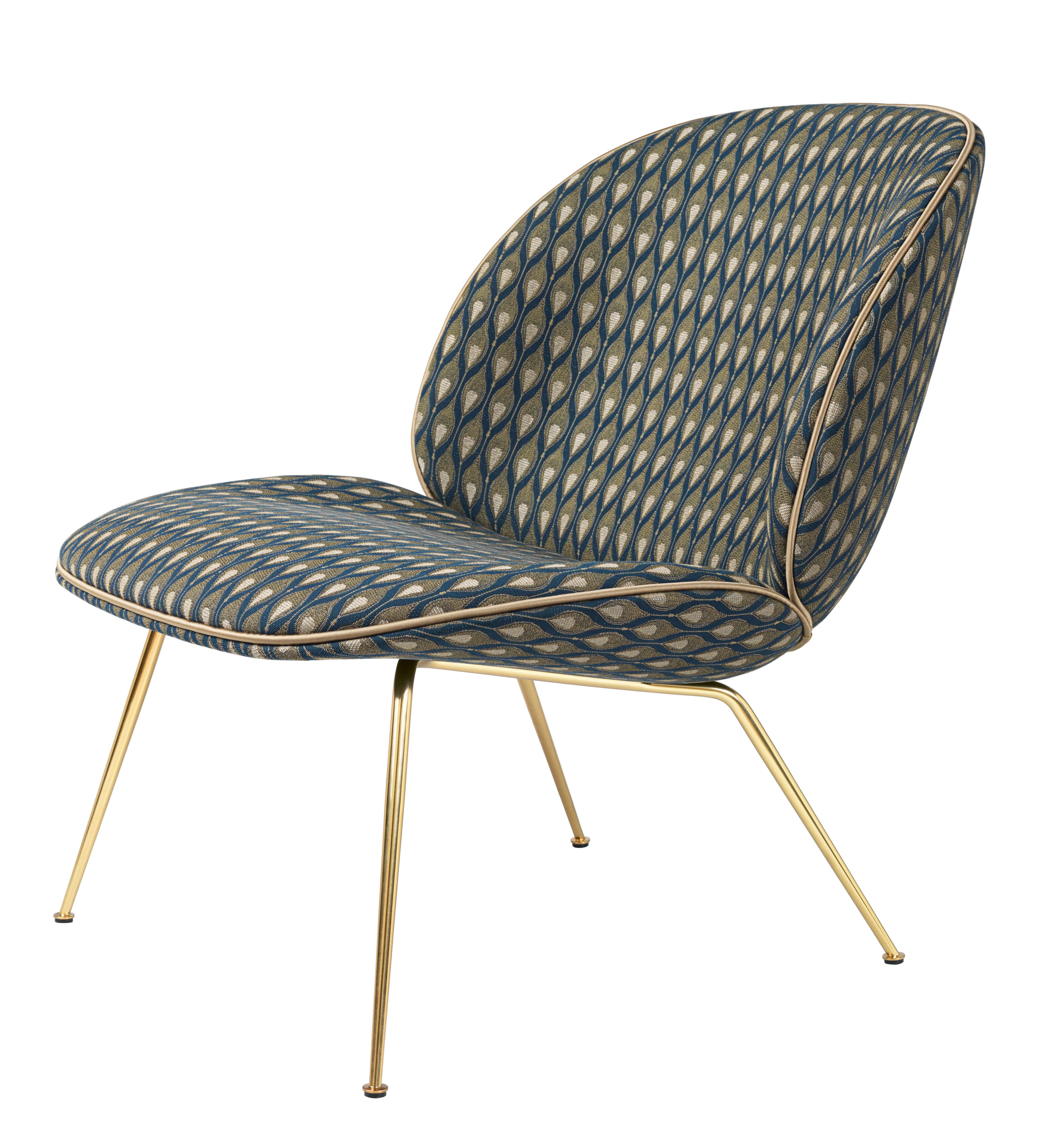 Low Armchair Beetle By Gubi Blue Green Made In Design Uk