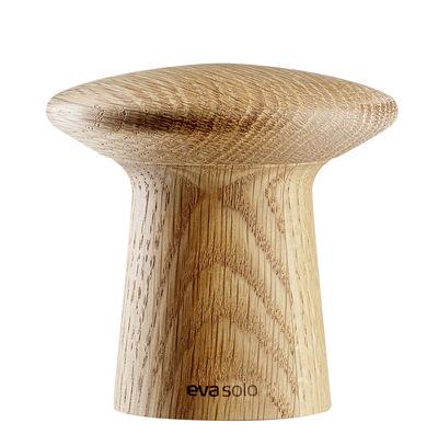 Portauova - Saliere e Pepiere - Macina sale e pepe Fungi / H 7,5 cm - Eva Solo - Quercia - Acciaio inossidabile, Ceramica, Rovere
