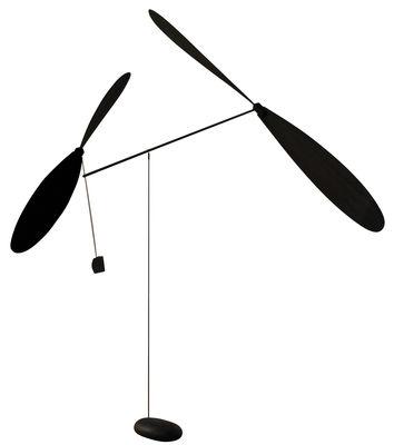Déco - Objets déco et cadres-photos - Mobile à 2 hélices - L'atelier d'exercices - Noir - Béton, Bois, Corde