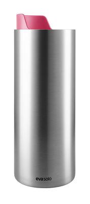 Arts de la table - Tasses et mugs - Mug isotherme To Go Cup Urban / Avec couvercle bec - 0,35 L - Eva Solo - Berry red / Acier - Acier inoxydable, Plastique