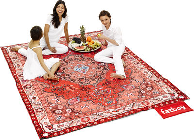 Decoration - Rugs - Picnic Lounge Outdoor rug by Fatboy - Red - Polyester fabric, Water-repellent foam