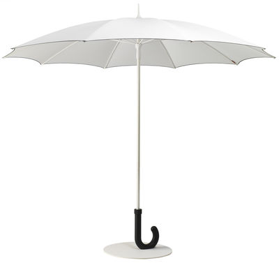 Outdoor - Parasols - Parasol Gulliver / Ø 295 cm - Symo - Blanc / Noir - Acier laqué, Aluminium, Polyester