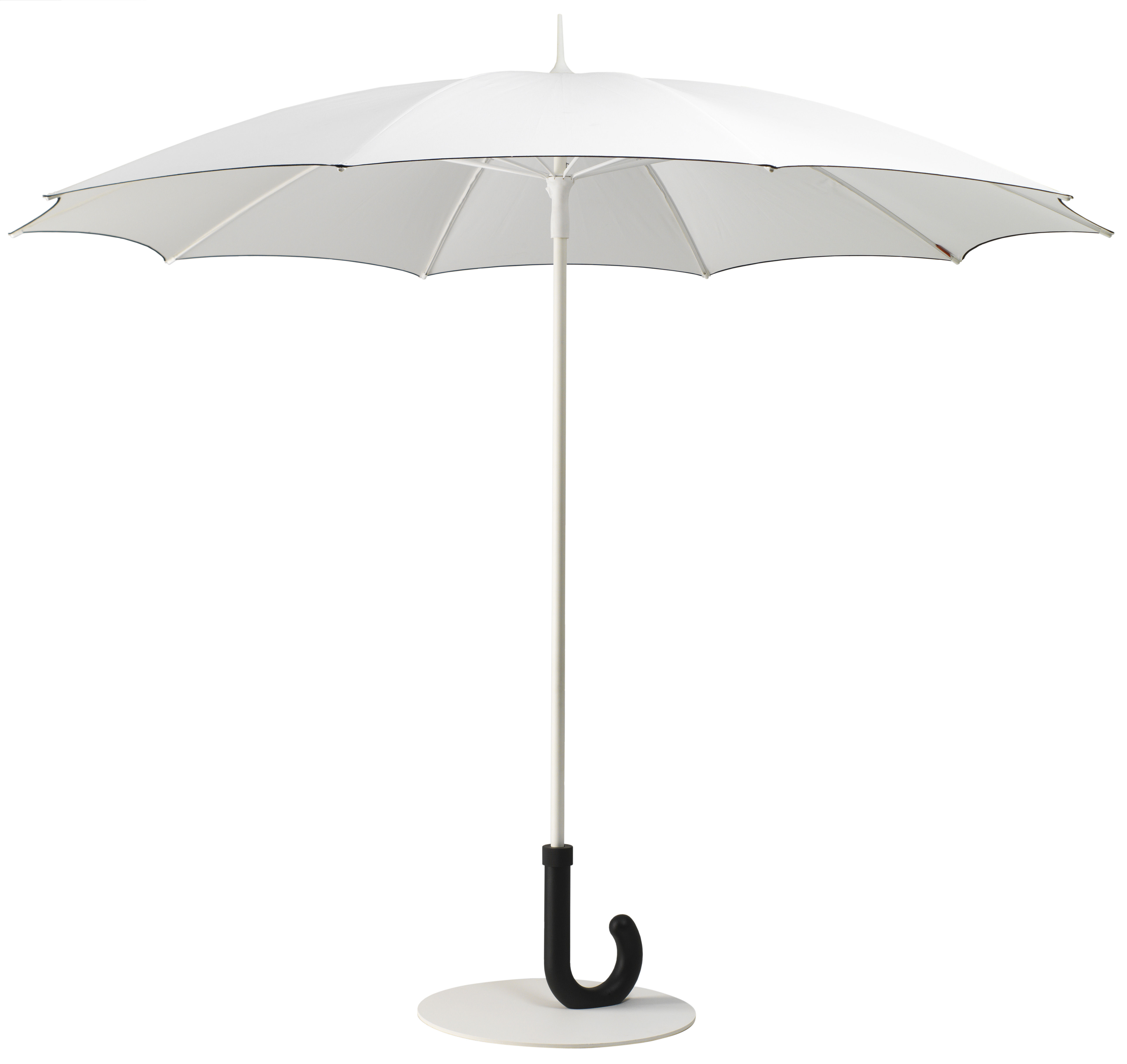 Outdoor - Parasols - Gulliver Parasol - Ø 295 cm by Symo - Blanc - Aluminium, Lacquered steel, Polyester