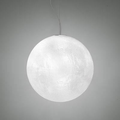 Murano Pendelleuchte / Ø 40 cm - Kunststoff in Raureif-Glasoptik - Slide - Translucide givré