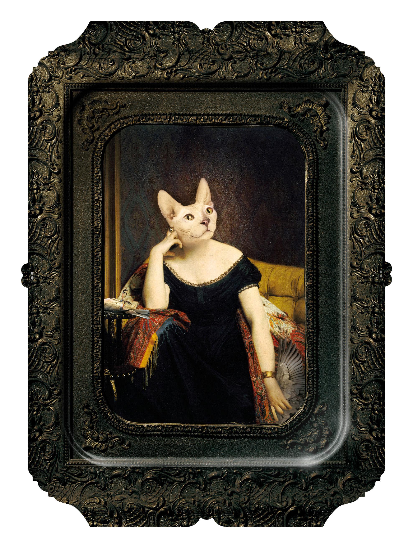 Tavola - Vassoi  - Piano/vassoio Visconti Victoire - / Quadro - H 45 cm di Ibride - Victoire - Laminato massello