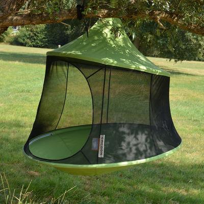 Outdoor - Sdraio, lettini e amache - Poltrona sospesa Reto - / tenda - Ø 150 cm - 1 persona di Cacoon - Verde - Tela