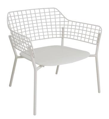 Arredamento - Poltrone design  - Chauffeuse impilabile Lyze / Metallo - Emu - Bianco - Acciaio inossidabile verniciato, alluminio verniciato