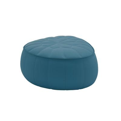 Mobilier - Poufs - Pouf Ottoman / Similicuir - 89 x 80 cm - Cinna - Bleu Canard (Similicuir) - ABS, Mousse polyuréthane, Similicuir