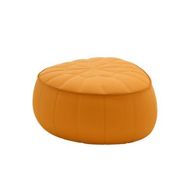 Mobilier - Poufs - Pouf Ottoman / Similicuir - 89 x 80 cm - Cinna - Orange (Similicuir) - ABS, Mousse polyuréthane, Similicuir