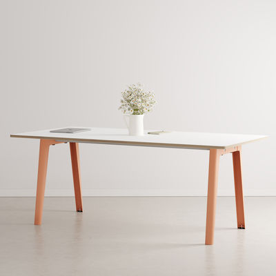 Furniture - Dining Tables - New Modern Rectangular table - / 190 x 95 cm - Laminate / 8 to 10 people by TIPTOE - Ash Pink - Powder coated steel, Stratified