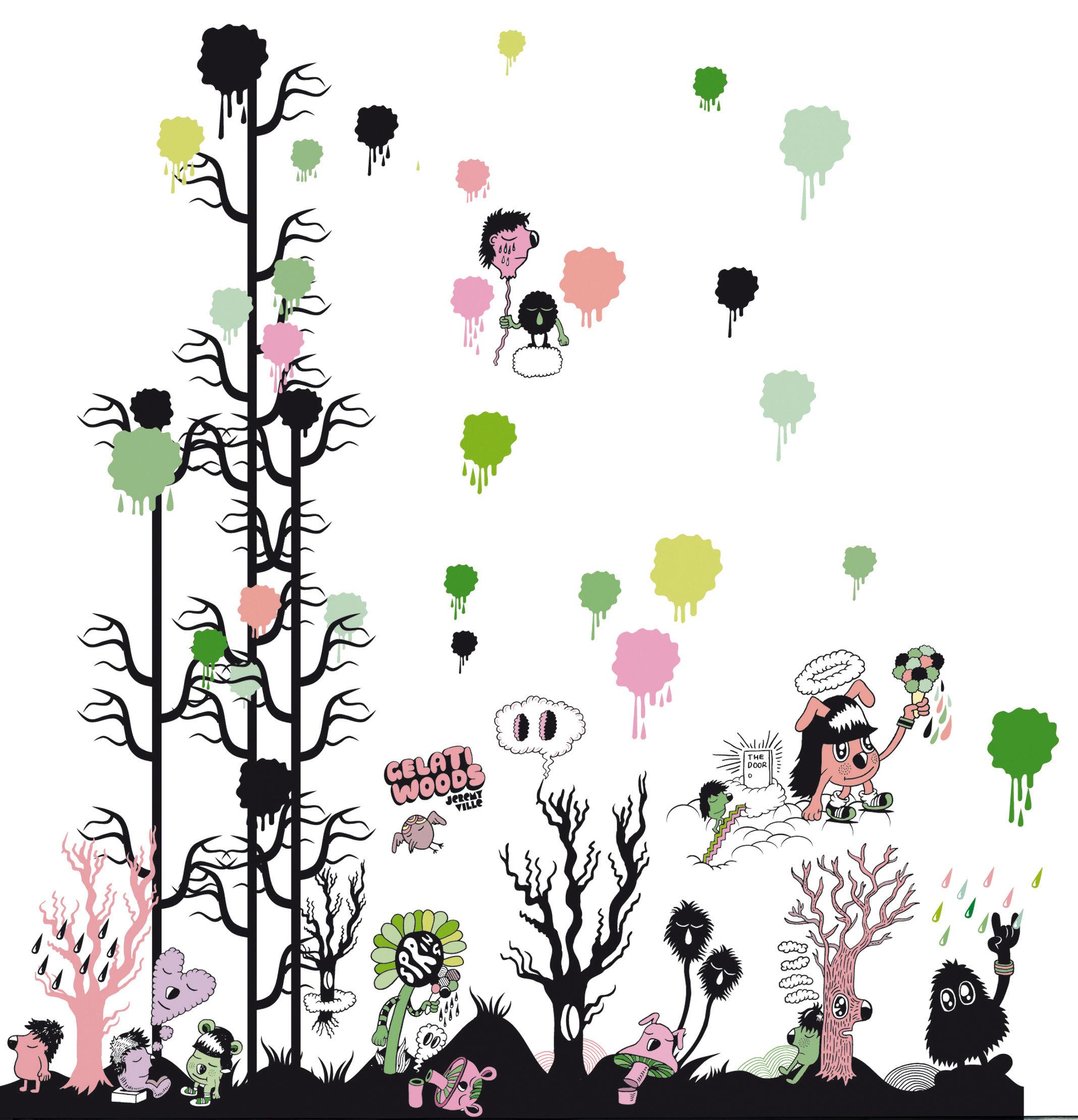 Dekoration - Stickers und Tapeten - Gelati woods Sticker - Domestic - Bunt - Vinyl