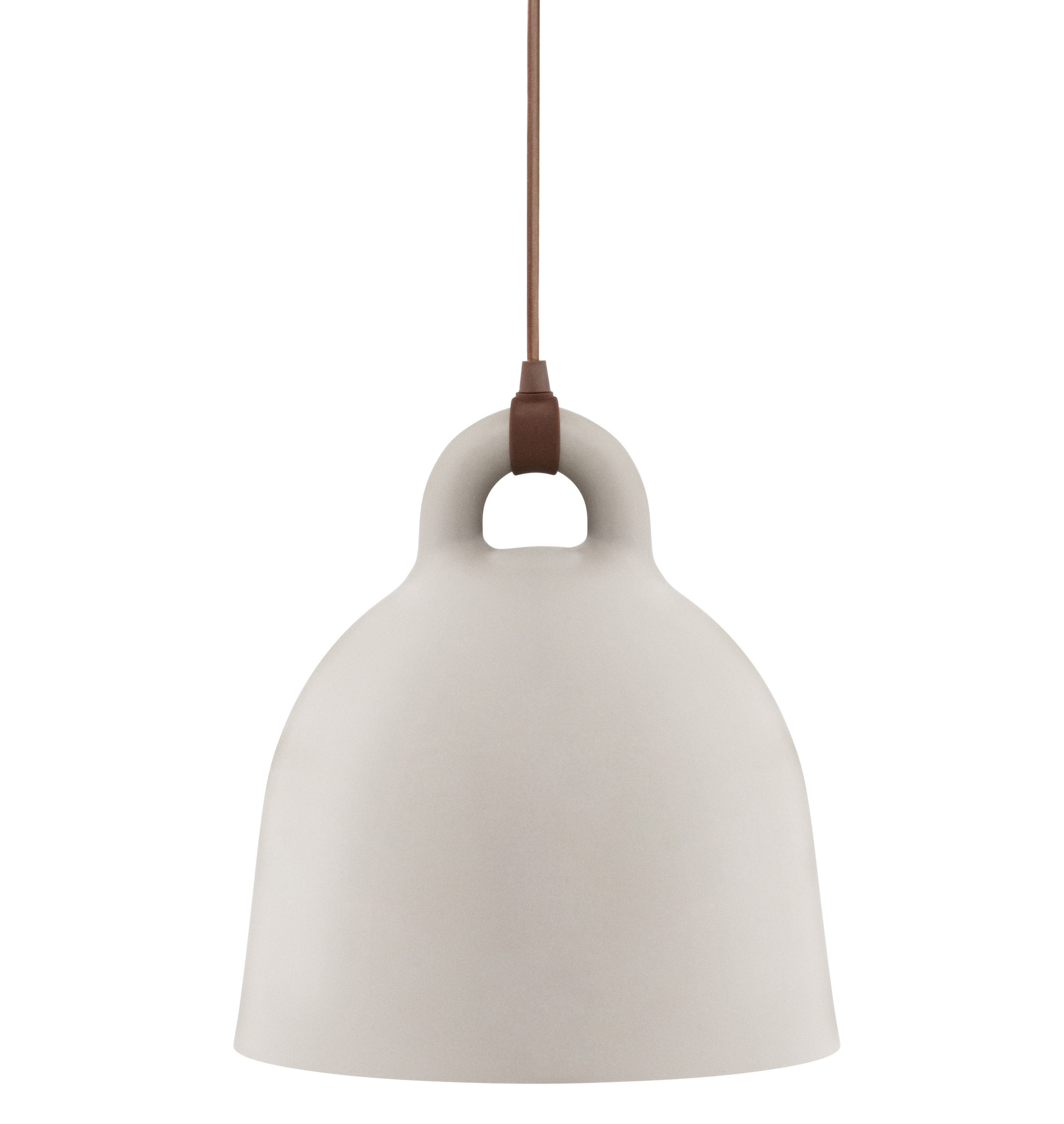 Luminaire - Suspensions - Suspension Bell / Small Ø 35 cm - Normann Copenhagen - Sable mat & Int. Blanc - Aluminium