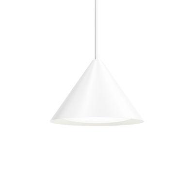 Luminaire - Suspensions - Suspension Keglen LED / Ø 40 cm - Aluminium - Louis Poulsen - Blanc - Aluminium